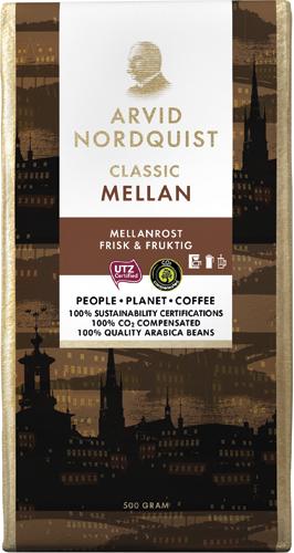 Arvid Nordquist Classic Mellan Brygg 500g malet kaffe
