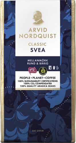 Arvid Nordquist Classic Svea 500g malet kaffe