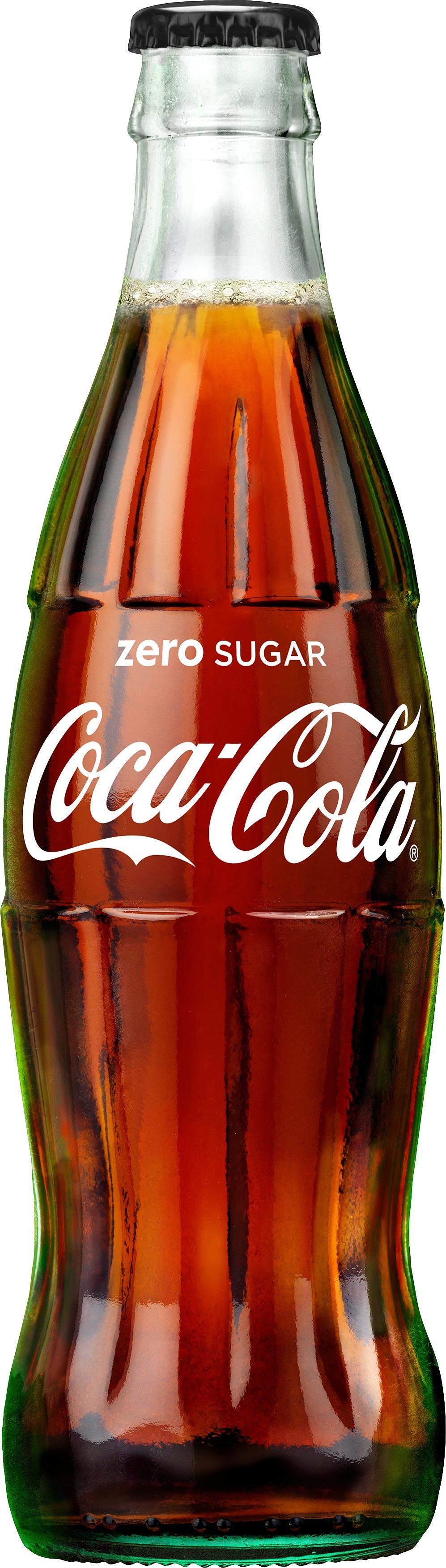 Coca-Cola Zero 33cl glasflaska läsk