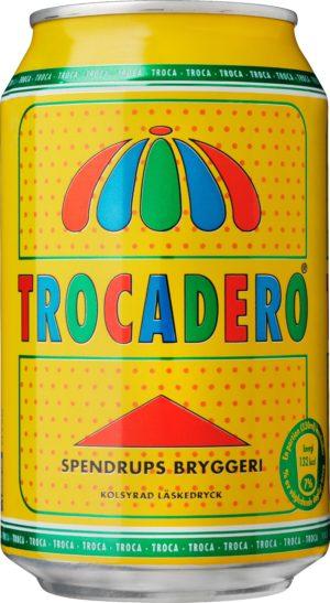 Trocadero läsk med fruktsmak på burk