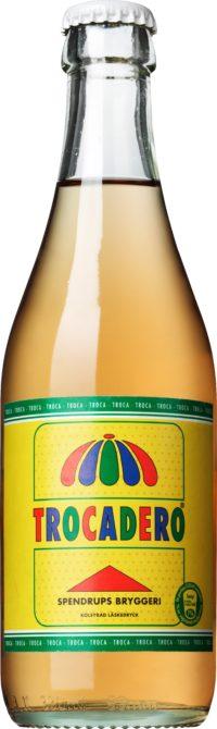Trocadero läsk med fruktsmak på glasflaska