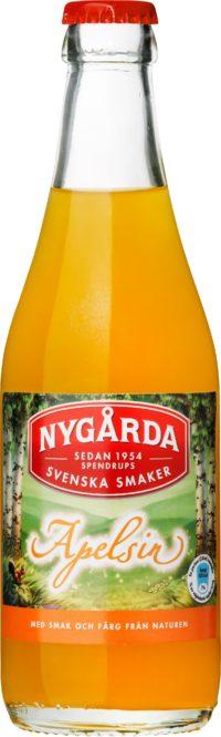 Nygårda Apelsin läsk på glasflaska