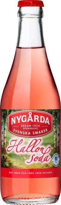 Nygårda Hallonsoda läsk på glasflaska