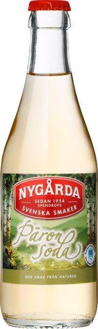 Nygårda Päronsoda läsk på glasflaska