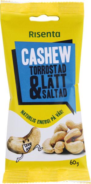 Risenta Cashew. Rostad och saltad påse med cashewnötter