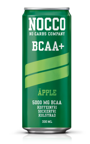 Nocco Äpple BCAA kolsyrad proteindryck