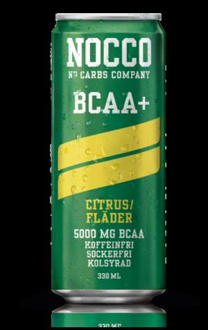 Nocco Citrus Fläder BCAA kolsyrad proteindryck