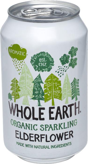 Whole Earth Elderflower Ekologisk läsk på burk