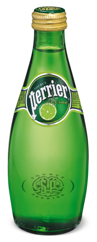 Perrier Lime kolsyrat vatten för restaurang och cafe