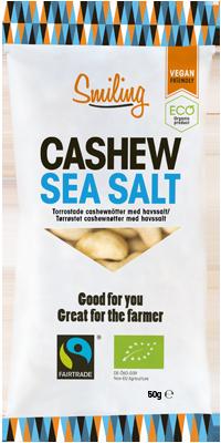 Smiling Havssalt påse med havssaltade cashewnötter
