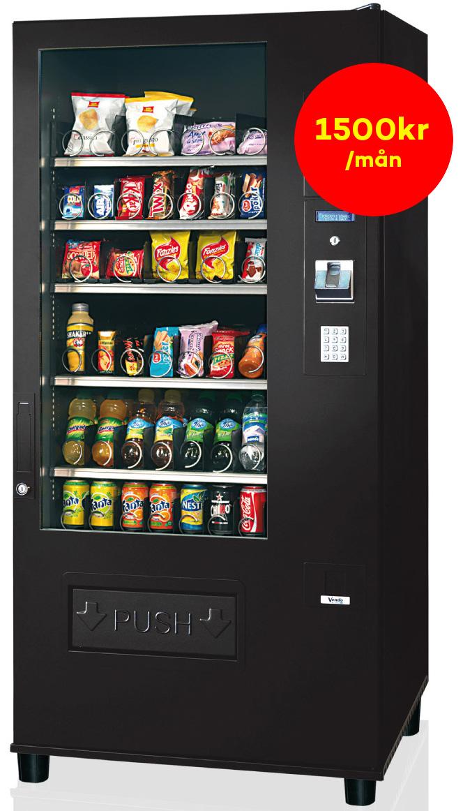 Varuautomater och kylskåp med kundanpassat sortiment